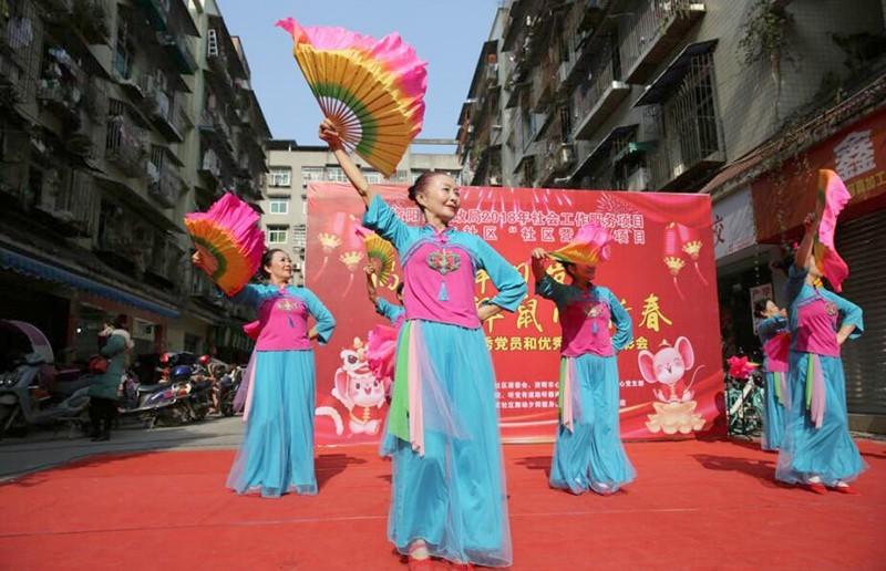 资阳鸿丰社区开展迎新春主题活动