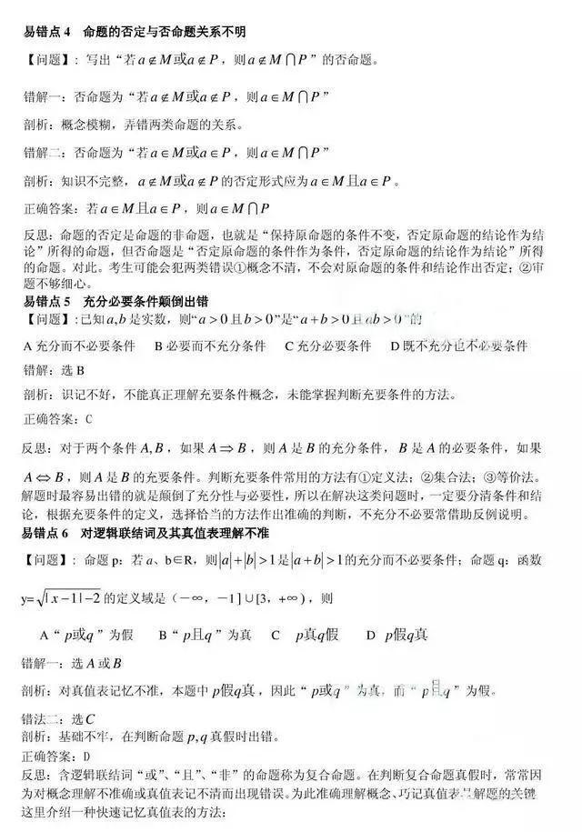 干货|高考数学最易失分的80个易错点! - 行者 - wangkeqin 的博客