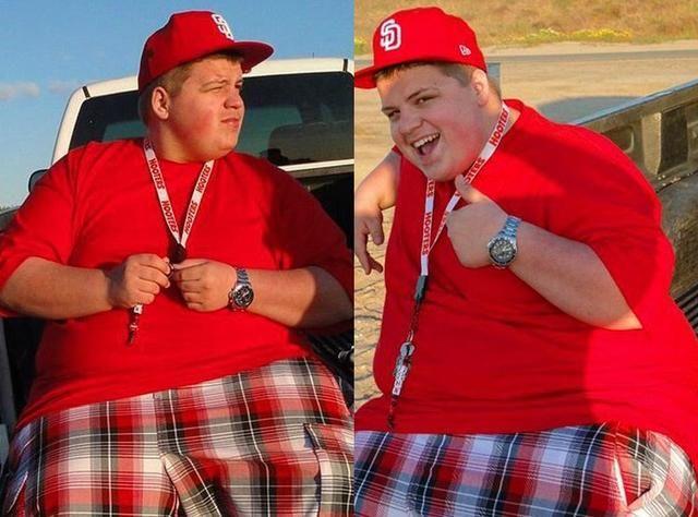 350斤胖男孩减肥180斤,成功找到漂亮女友,但腹