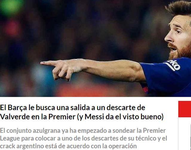 足球先生报道,巴萨打算今夏出售一名前锋,梅西也表示同意